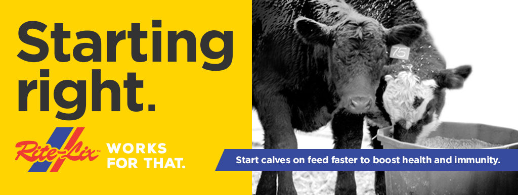 Starting right. Rite-Lix works for that. Start calves on feed faster to boost health and immunity.